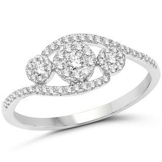 Olivia Leone 14k White Gold 1/3ct TDW Diamond Ring (G-H, SI1-SI2)