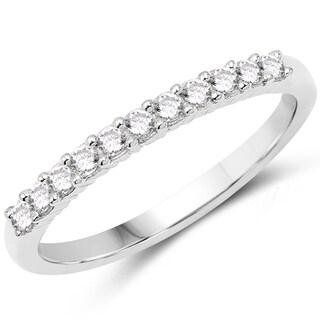 Olivia Leone 14k White Gold 1/4ct TDW Diamond Ring (G-H, SI1-SI2)