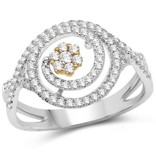 Olivia Leone 14k Two-tone Gold 1/2ct TDW Diamond Ring (G-H, SI1-SI2)