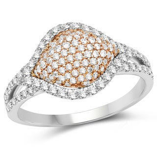 Olivia Leone 14k Two-tone Gold 3/4ct TDW Diamond Ring