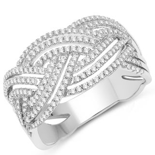 Olivia Leone 14k White Gold 1/2ct TDW Diamond Ring (G-H, SI1-SI2)