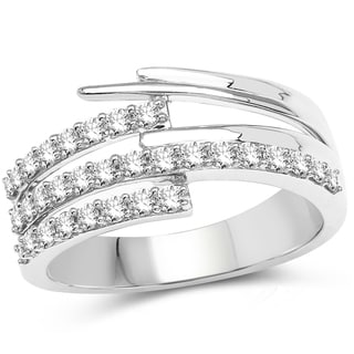 Olivia Leone 14k White Gold 3/5ct TDW Diamond Ring