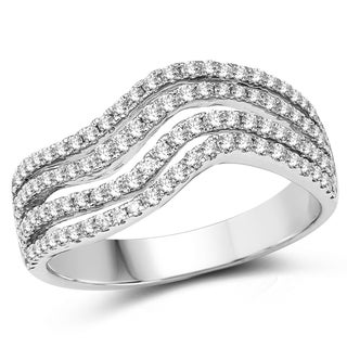 Olivia Leone 14k White Gold 3/5ct TDW Diamond Ring