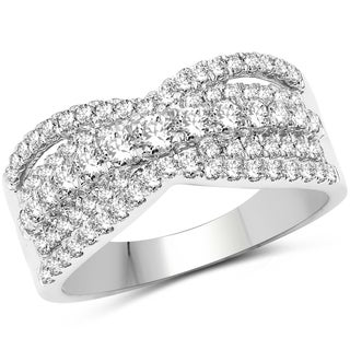 Olivia Leone 14k White Gold 1ct TDW Diamond Ring (G-H, SI1-SI2)