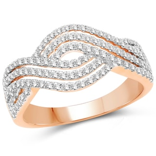 Olivia Leone 14k Rose Gold 5/8ct TDW Diamond Ring (G-H, SI1-SI2)
