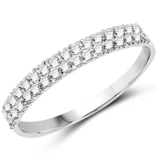 Olivia Leone 14k White Gold 1/3ct TDW White Diamond Ring