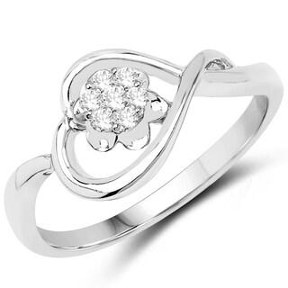 Olivia Leone 14k White Gold 1/8ct TDW Diamond Ring (G-H, SI1-SI2)