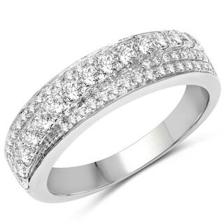 Olivia Leone 14k White Gold 5/8ct TDW Diamond Ring