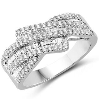 Olivia Leone 14k White Gold 3/4ct TDW Diamond Ring (G-H, SI1-SI2)