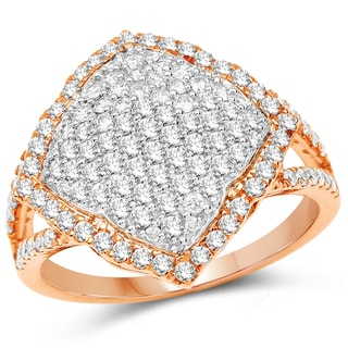 Olivia Leone 14k Two-tone Gold 1 1/10ct TDW Diamond Ring (G-H, SI1-SI2)