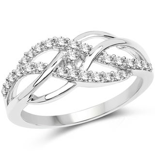 Olivia Leone 14k White Gold 1/3ct TDW Diamond Ring