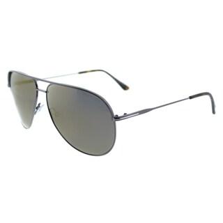 Tom Ford TF 466 13C Erin Ruthenium Metal Gold Mirror Lens Aviator Sunglasses