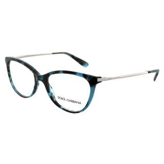Dolce & Gabbana Unisex DG 3258 2887 Petroleum Tortoise Plastic 54-millimeter Square Eyeglasses