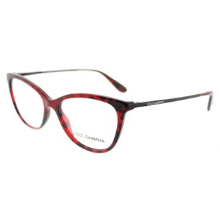 Dolce and Gabbana DG 3258 2889 Bordeaux Tortoise Plastic Square Eyeglasses