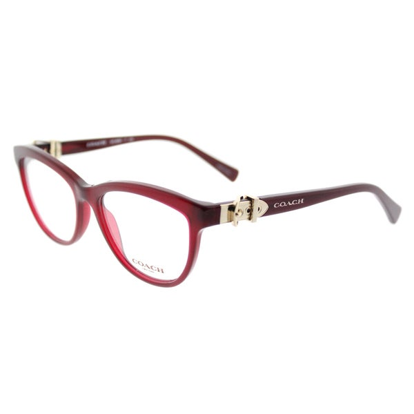 f1b9b04ecf Shop Coach HC 6087 5393 Women s Burgundy Plastic Cat-eye Eyeglasses ...