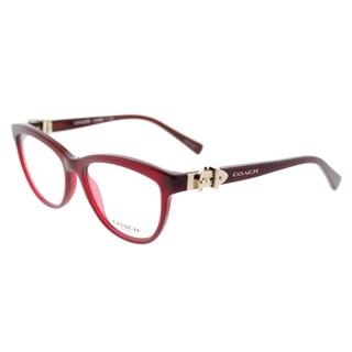Coach HC 6087 5393 Women's Burgundy Plastic Cat-eye Eyeglasses