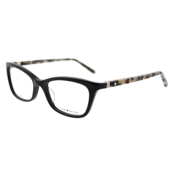 05c64bb4d1d Kate Spade KS Delacy 7KI Black Havana Plastic 52-millimeter Cat-eye  Eyeglasses