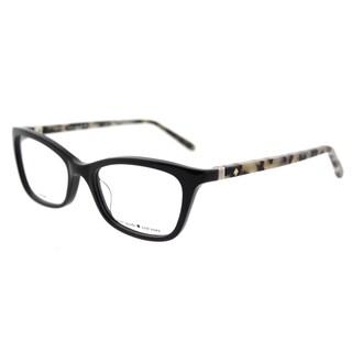 Kate Spade KS Delacy 7KI Black Havana Plastic 52-millimeter Cat-eye Eyeglasses