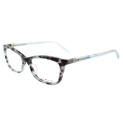 Kate Spade Blue Havana Plastic Cat-eye Eyeglasses