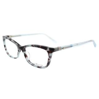 Kate Spade Blue Havana Plastic Cat-eye Eyeglasses