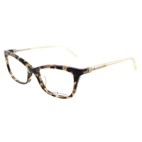 6d7fce7dbbcab Kate Spade KS Delacy RRV Havana Honey Plastic 52-millimeter Cat-Eye  Eyeglasses