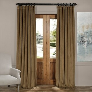 Exclusive Fabrics Signature Velvet Blackout Curtain Panel (50 x 120 - Fawn)