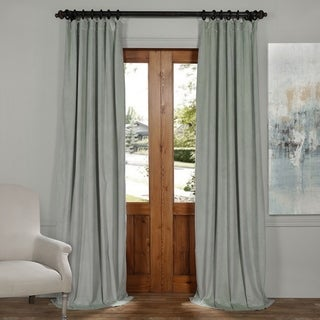 Exclusive Fabrics Signature Velvet Blackout Curtain Panel (50 x 96 - Green)