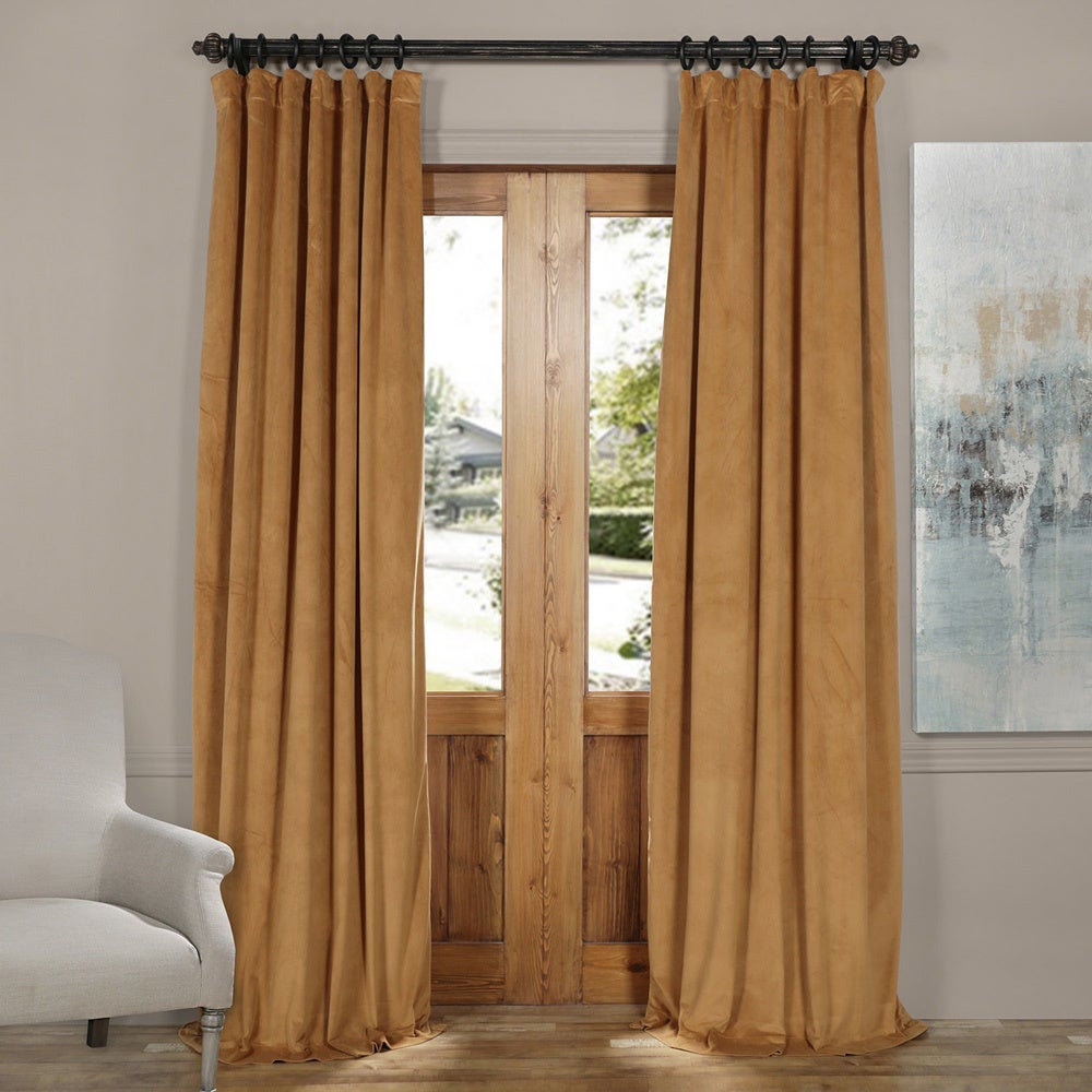 Exclusive Fabrics Signature Velvet Blackout Curtain Panel...