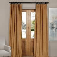 Exclusive Fabrics Signature Velvet Blackout Curtain Panel