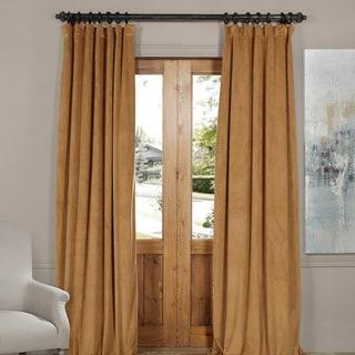 Exclusive Fabrics Signature Velvet Blackout Curtain Panel