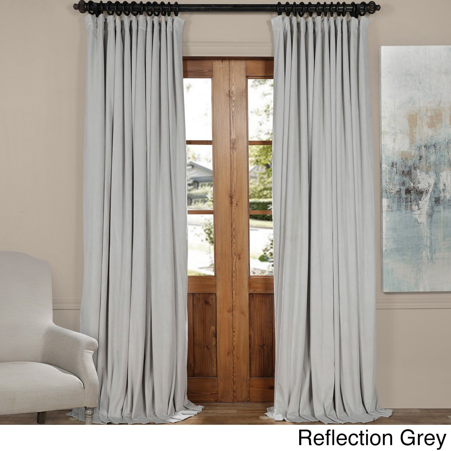 and reveal a s stretch panels spandex drape curtains curtain open pipe blue velvet royal to