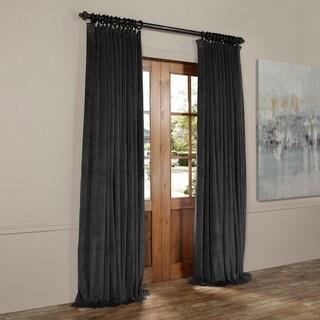 Exclusive Fabrics Signature Doublewide Blackout Velvet Curtain