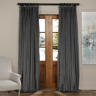 Exclusive Fabrics Signature Wide Width Blackout Velvet Curtain Panel