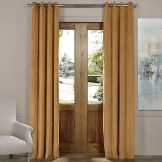 Exclusive Fabrics Signature Solid-colored Grommet Blackout Velvet Curtain