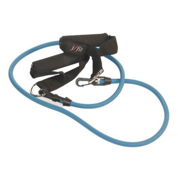 JFIT Blue/Black Resistance Tubing with Handles (Medium Or X-Heavy)