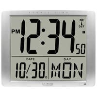 La Crosse Technology BBB87269 Atomic Extra-Large Digital Wall Clock with 7 Inch Time