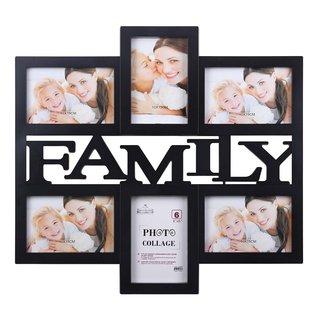 Black Plastic 6-photo Collage Frame