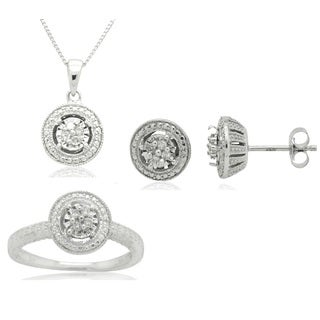 0.30 CTTW Diamond Round Solitaire Set in Sterling Silver