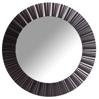 Wee's Beyond Black 20-inch Round Decorative Wall Mirror