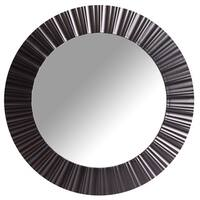 Wee's Beyond Black 20-inch Round Decorative Wall Mirror