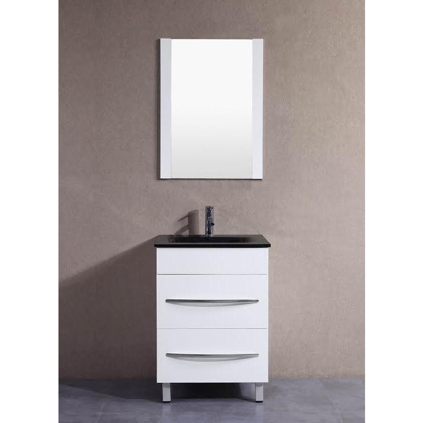72 Inch Double Bathroom Vanity In White Ivory Marble Countertop