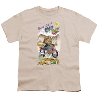 Garfield/Wild One Short Sleeve Youth 18/1 in Cream