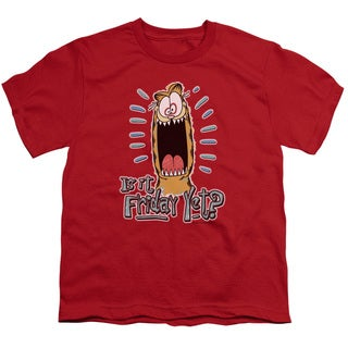 Garfield/Friday Short Sleeve Youth 18/1 in Red