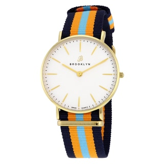 Brooklyn Watch Co. Flatland Casual Super Slim Swiss Quartz Watch