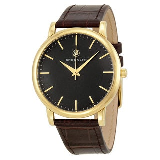 Brooklyn Watch Company Myrtle Black/Brown Leather/Stainless Steel Watch