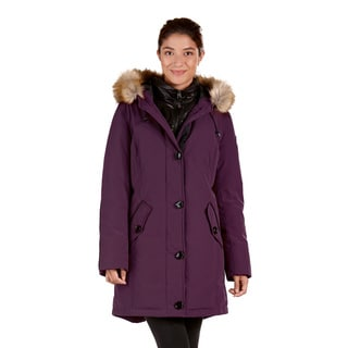 Women's Down Parka with Faux Fur-lined Hood