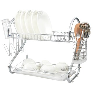 Chrome 16-inch 2-tier Dish Rack