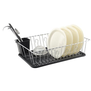 Wee's Beyond Chrome Metal Dish Drainer (3-piece Set)