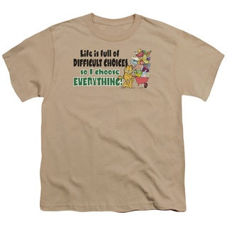 Garfield/Difficult Choices Short Sleeve Youth 18/1 in Sand
