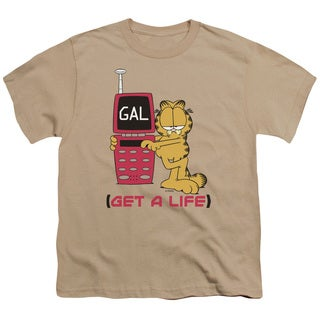 Garfield/Get A Life Short Sleeve Youth 18/1 in Sand